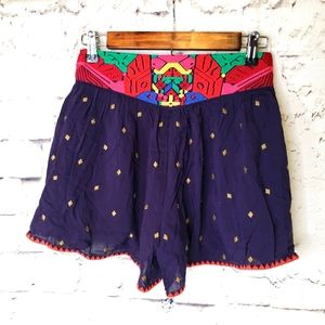 THML Embroidered Shorts Size Small